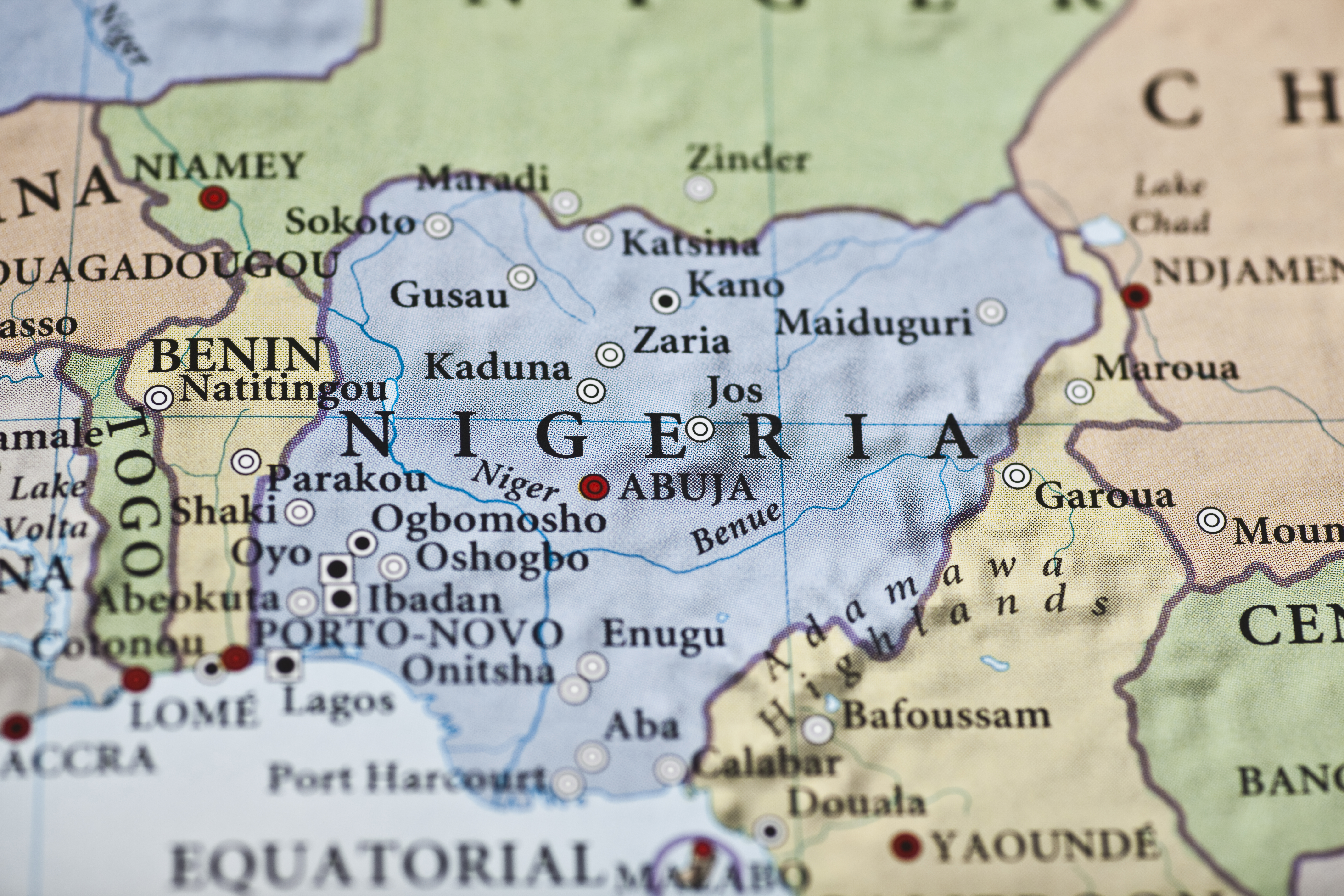 Africa Map Nigeria.Nigeria Map Africa Closeup Global Trade Review Gtr