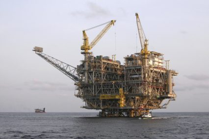 Oil Platform offshore Angola