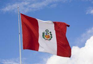 Peruvian flag sky