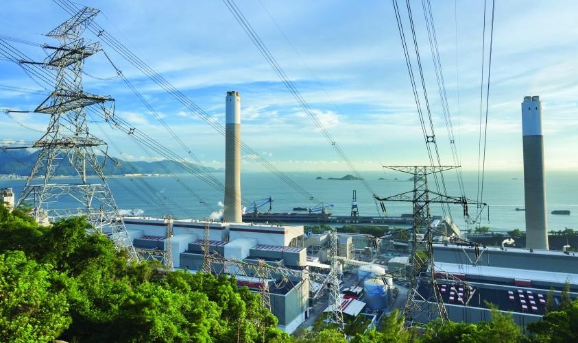 Power station energy coastline sea