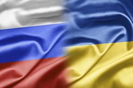 Russia Ukraine Flags