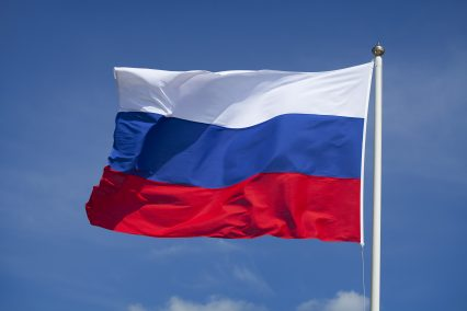 Russian flag sky