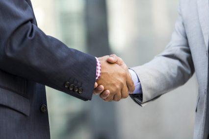 Shaking Hands Businessman