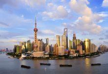 Shanghai skyline panoramic water