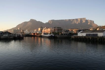 Table mountain Cape Town harbour