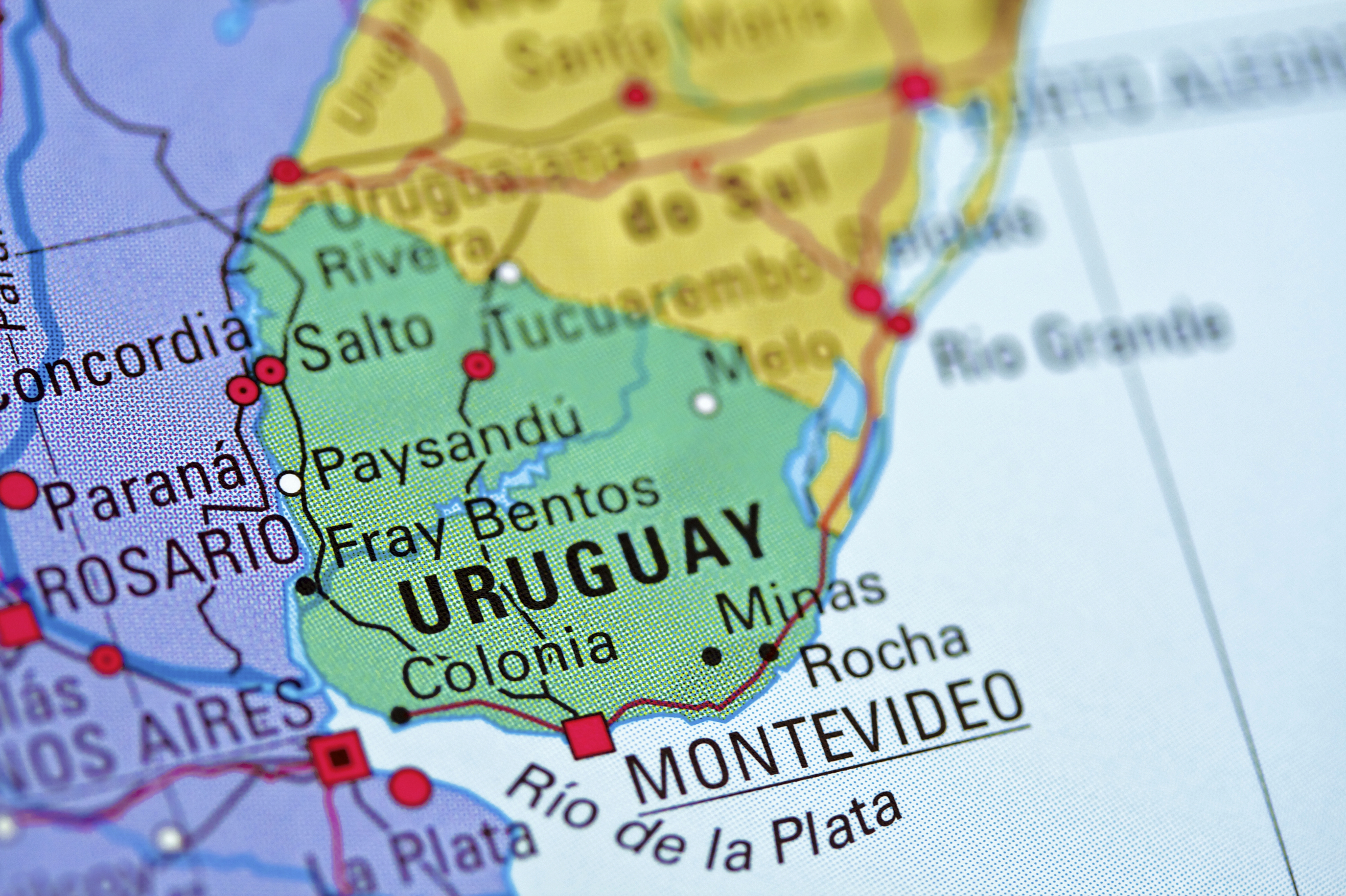 Uruguay Montevideo Map Global Trade Review GTR