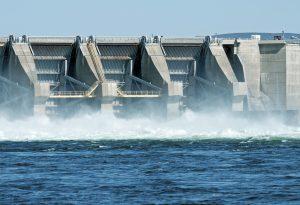 Water Hydroelectric dam Columbia River Washington