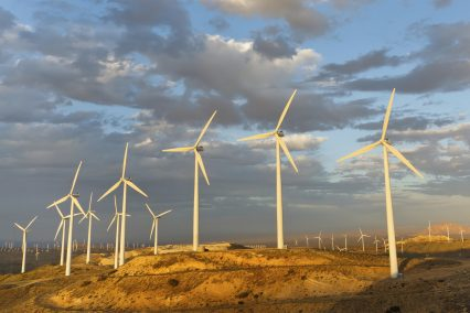Wind turbine Landscape California