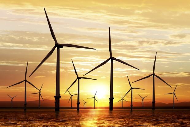Wind turbine sustainable energy sunset