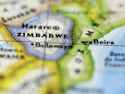 Zimbabwe map closeup