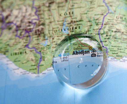 Abidjan Cote D'Ivoire Africa map