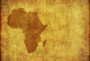 Africa continent grungy parchment
