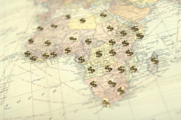 Africa dollar signs map