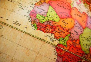 World map: Africa detail