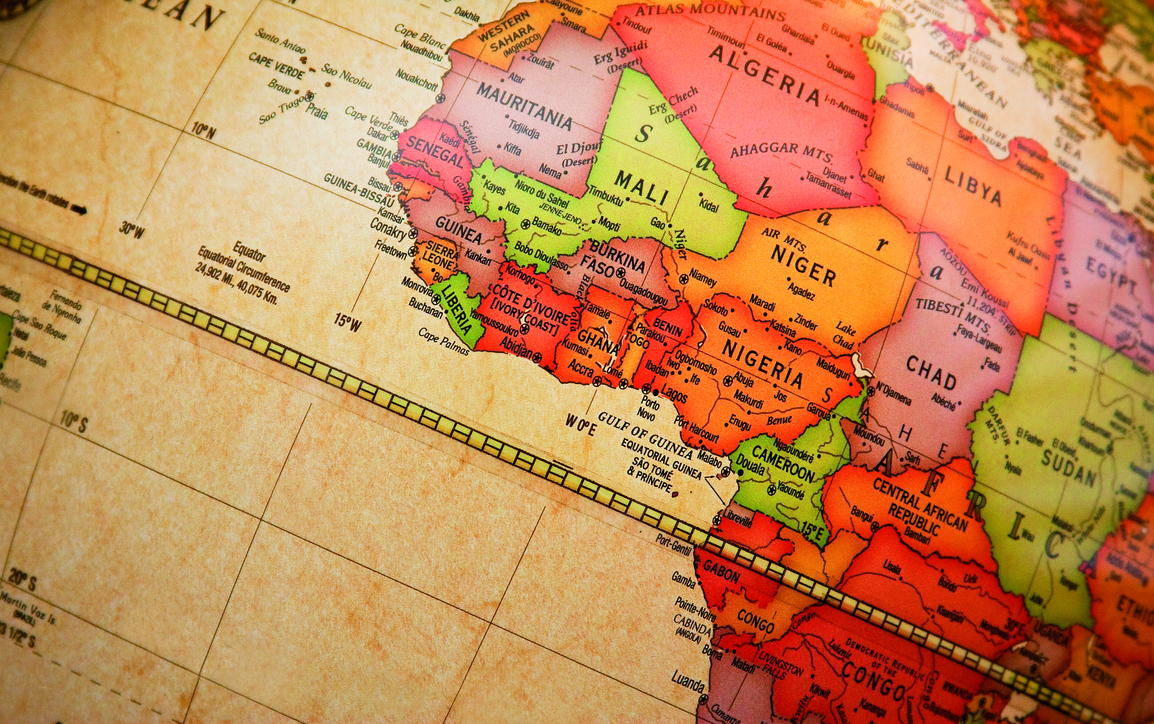 World Map Africa Detail Global Trade Review GTR - Map of the world in detail