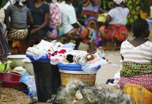 Africa market village people
