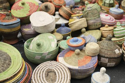African sea grass baskets Angola