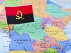 Angola Flag Map