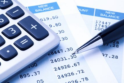 Bank statement account calculator finance business