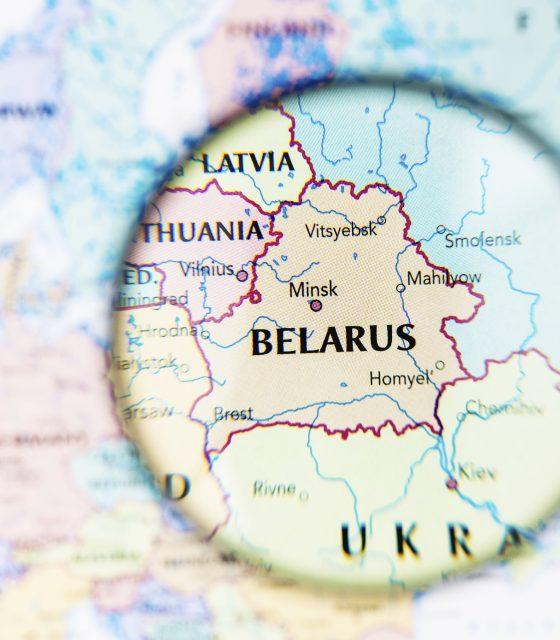 Belarus Minsk map closeup
