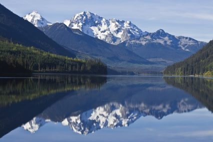 British Columbia mountains lake landscape nature