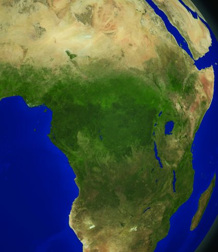 Central Africa map