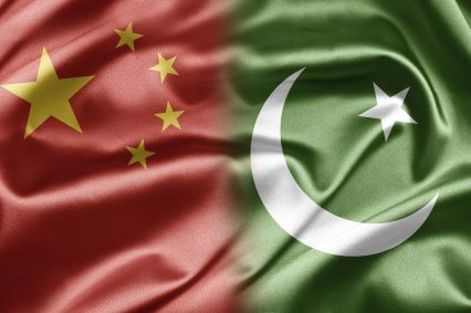 China Pakistan Flags