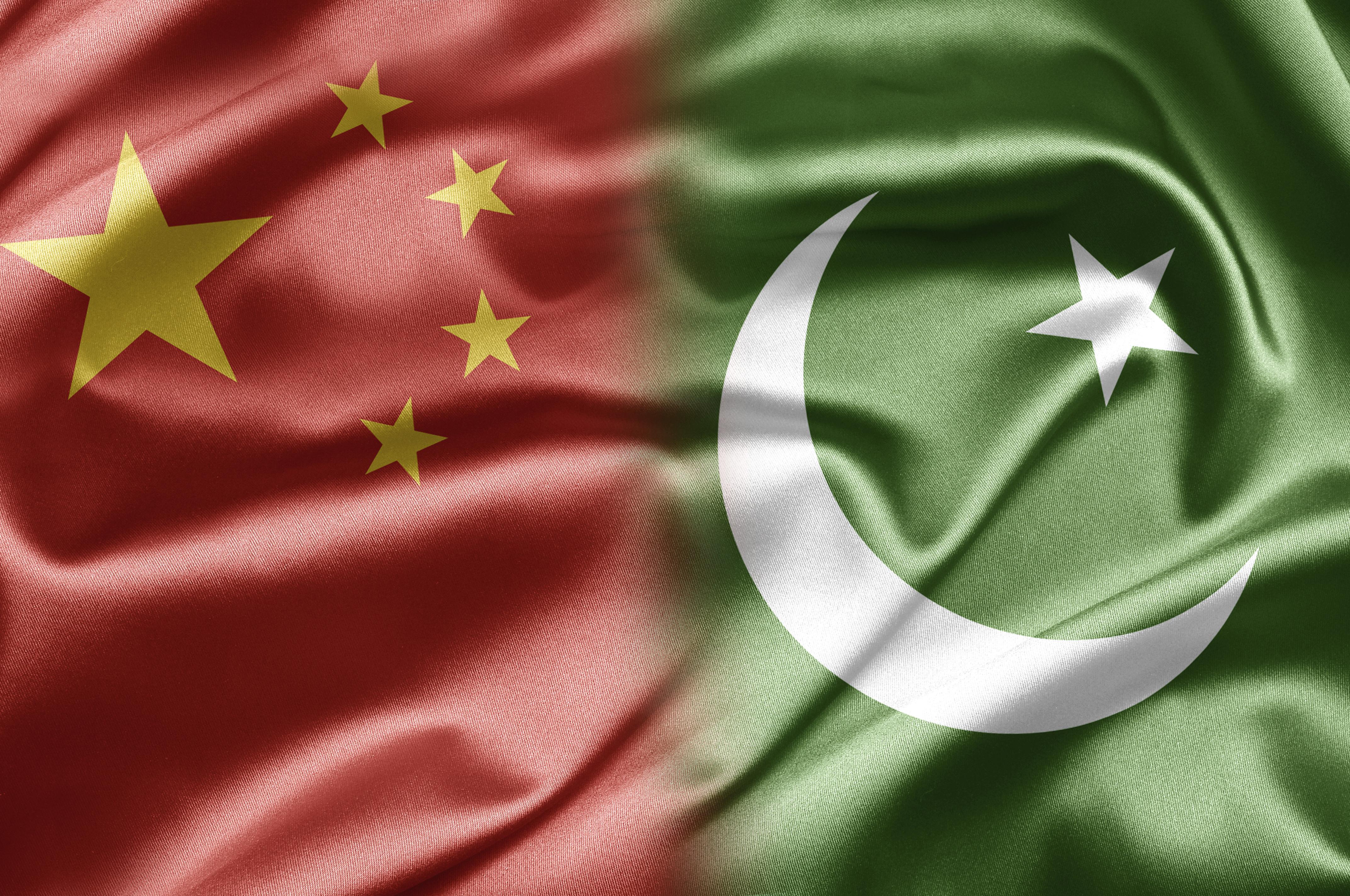 China Pakistan Flags