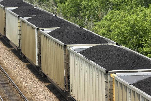 Coal train railroad freight