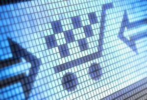 E-commerce internet retail shopping cart