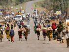 Locals Walking On A Market In Yabela