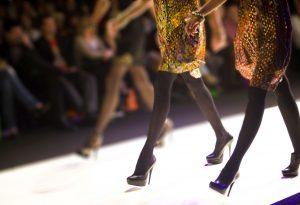 Fashion show catwalk shoes legs