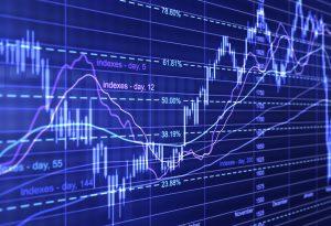 Financial diagrams graphs data trading