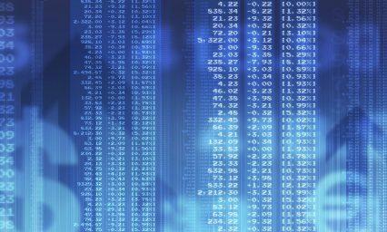 Financial figures trading stock exchange market