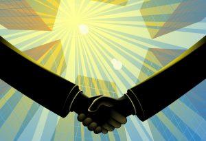 Handshake business relationship relationship