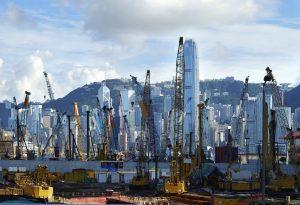 Hong Kong Kowloon construction Asia port