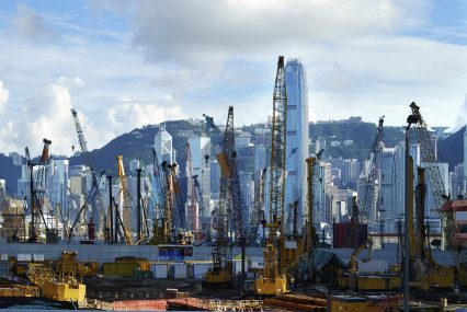 Hong Kong Kowloon construction Asia port