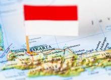 Indonesia Jakarta Asia map flag