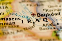 Iraq Baghdad Middle East map