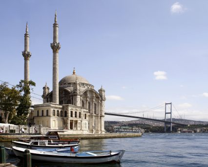 Istanbul Bosphorus Ortakoy Mosque Bridge Turkey