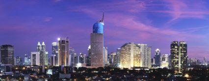 Jakarta city urban Indonesia night