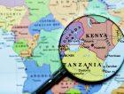Kenya Tanzania Africa Uganda map