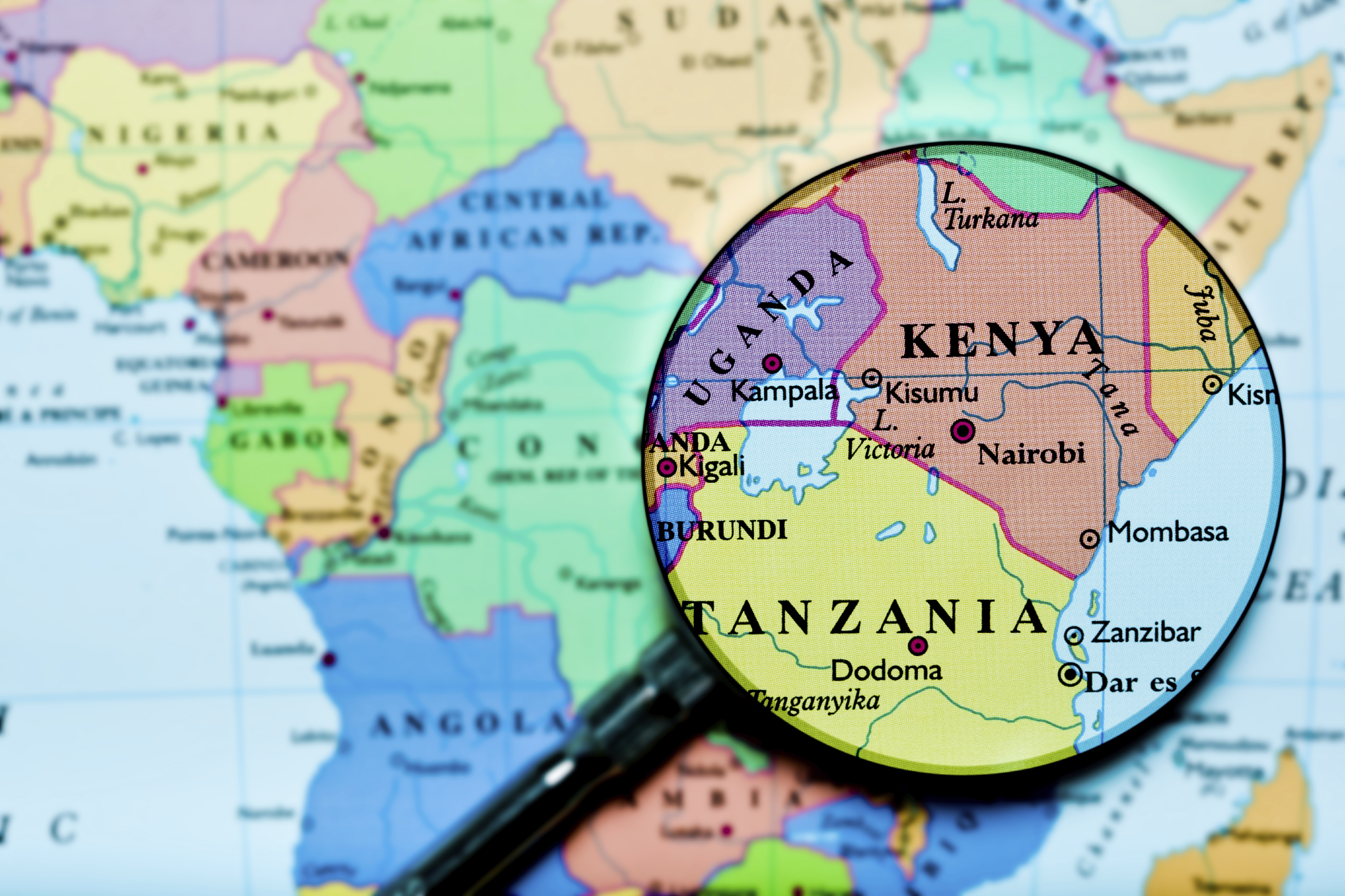 Tanzania On Africa Map.Kenya Tanzania Africa Uganda Map Global Trade Review Gtr