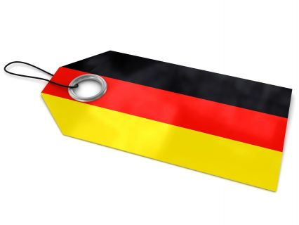 Label Germany flag