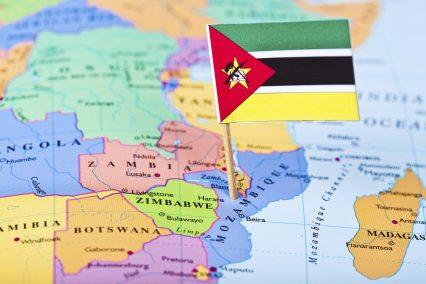 Map Flag Mozambique