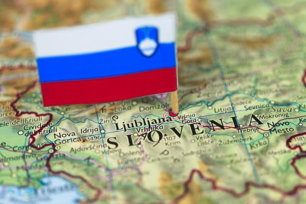 Map flag Ljubljana Slovenia
