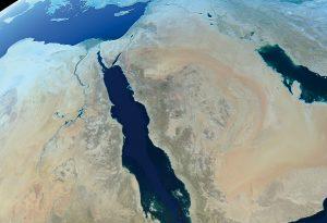 Mena middle east globe world map