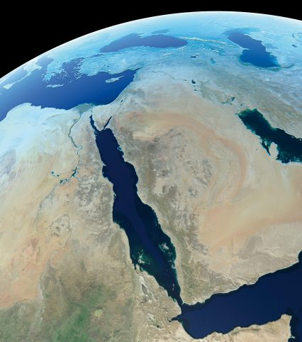 Mena middle east globe world map