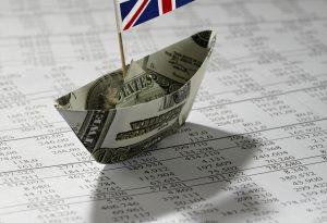 Money boat data paper UK flag