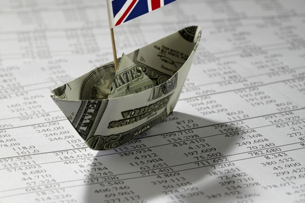 Money boat data paper UK flag